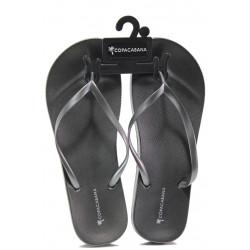 Анатомични дамски чехли Ipanema 82698 сив-сребро | Бразилски чехли