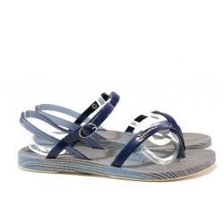 Анатомични дамски сандали Ipanema 82521 бежов-син | Бразилски чехли и сандали