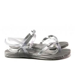 Анатомични дамски сандали Ipanema 82521 сив-сребро | Бразилски чехли и сандали