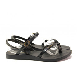 Анатомични дамски сандали Ipanema 82682 черен | Бразилски чехли и сандали
