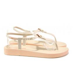 Анатомични дамски сандали Ipanema 82626 бежов | Бразилски чехли и сандали