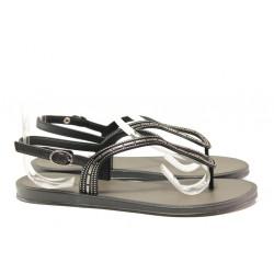 Равни дамски сандали Grendha 17637 черен | Бразилски чехли и сандали