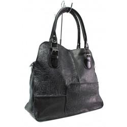 Българска дамска чанта от естествена кожа КН 12-4 черен | Дамска чанта