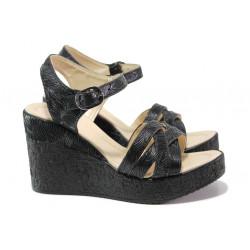 Модерни дамски сандали на платформа МИ 101-259 черен | Дамски сандали на ток