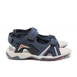 Анатомични детски сандали АБ 17-19 т.син 32/36 | Детски чехли и сандали