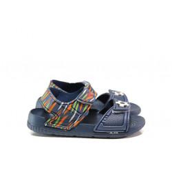 Детски сандали с лепенки АБ 13-19 син топка 24/29| Детски гумени сандали