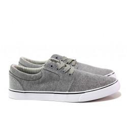 Мъжки спортни обувки АБ 68-19 сив-бял | Мъжки ежедневни обувки