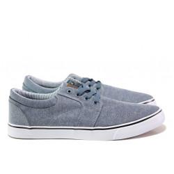 Мъжки спортни обувки АБ 68-19 т.син-бял | Мъжки ежедневни обувки