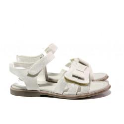 Анатомични детски сандали със стелка от естествена кожа АБ 24-19 бял 31/35 | Детски сандали