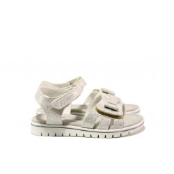 Анатомични детски сандали със стелка от естествена кожа АБ 25-19 бял 26/30 | Детски сандали