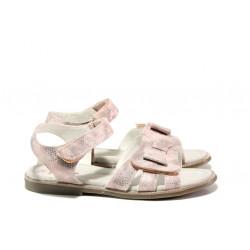 Анатомични детски сандали със стелка от естествена кожа АБ 24-19 розов 31/35 | Детски сандали