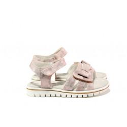 Анатомични детски сандали със стелка от естествена кожа АБ 25-19 розов 26/30 | Детски сандали