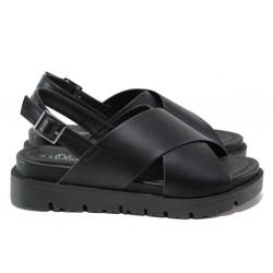 Комфортни дамски сандали S.Oliver 5-28316-22 черен   Немски чехли и сандали
