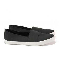 Дамски спортни обувки /тип еспадрили/ АБ 73-19 черен | Равни дамски обувки