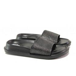 Дамски джапанки с цяла лента АБ 08-19 черен | Дамски джапанки и чехли