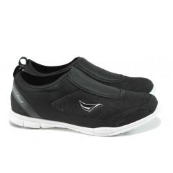 Мъжки спортни обувки без връзки ГК 30107-1 черен | Мъжки маратонки