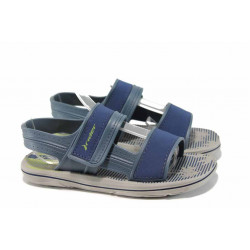 Анатомични детски сандали с лепенки Rider 82196 сив-син 27/38 | Бразилски чехли и сандали