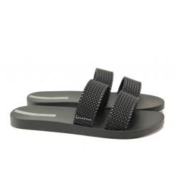 Равни дамски чехли Ipanema 26223 черен | Бразилски чехли и сандали
