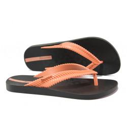 Равни дамски чехли Ipanema 26267 черен-розов | Бразилски чехли и сандали