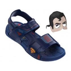 Анатомични детски сандали с лепенки Rider 21855 Супермен син 28/36 | Бразилски чехли и сандали
