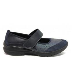 Дамски ортопедични обувки от естествена кожа SOFTMODE Boston Cam син | Равни дамски обувки