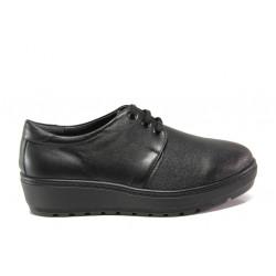 Дамски ортопедични обувки от естествена кожа SOFTMODE 2301 Connie черен | Дамски обувки на платформа