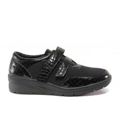 Дамски ортопедични обувки от естествена кожа SOFTMODE 1170 Brook черен   Равни дамски обувки