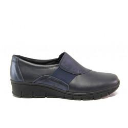 Дамски ортопедични обувки от естествена кожа SOFTMODE 313 Star син | Равни дамски обувки
