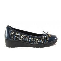 Дамски ортопедични обувки от естествена кожа SOFTMODE 243 Tina син | Равни дамски обувки