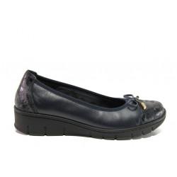Дамски ортопедични обувки от естествена кожа SOFTMODE 243 Tina черен кожа | Равни дамски обувки