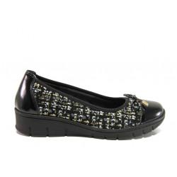 Дамски ортопедични обувки от естествена кожа SOFTMODE 243 Tina черен | Равни дамски обувки