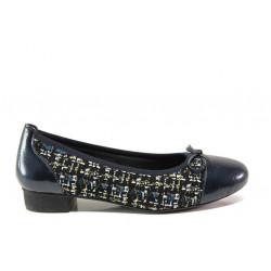 Дамски ортопедични обувки от естествена кожа SOFTMODE 173806 син | Равни дамски обувки