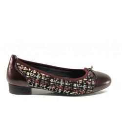Дамски ортопедични обувки от естествена кожа SOFTMODE 173806 бордо | Равни дамски обувки