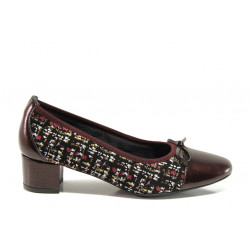 Дамски ортопедични обувки от естествена кожа SOFTMODE 5602 Gemma бордо | Дамски обувки на среден ток