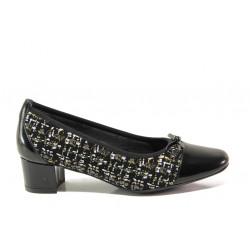 Дамски ортопедични обувки от естествена кожа SOFTMODE 5602 Gemma черен | Дамски обувки на среден ток
