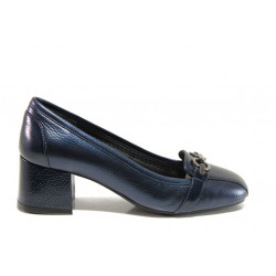 Дамски ортопедични обувки SOFTMODE 333805 Franse син | Дамски обувки на среден ток