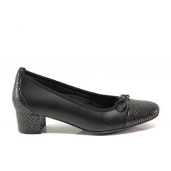 Дамски ортопедични обувки SOFTMODE 5602 Gemma черен кожа | Дамски обувки на среден ток