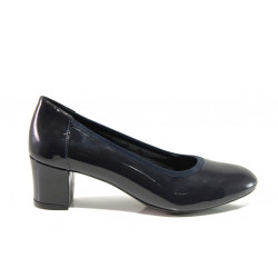 Дамски ортопедични обувки SOFTMODE 1201 Kaylee т.син | Дамски обувки на среден ток