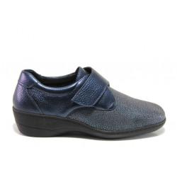 Дамски ортопедични обувки от естествена кожа SOFTMODE 1103 Joe син | Дамски обувки на платформа