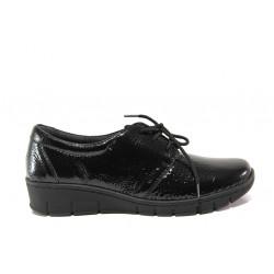 Дамски ортопедични обувки от естествена кожа-лак SOFTMODE 391 Simone черен | Равни дамски обувки