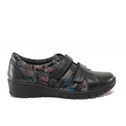 Дамски ортопедични обувки от естествена кожа SOFTMODE 388 Ora син | Равни дамски обувки