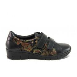 Дамски ортопедични обувки от естествена кожа SOFTMODE 388 Ora златен | Равни дамски обувки
