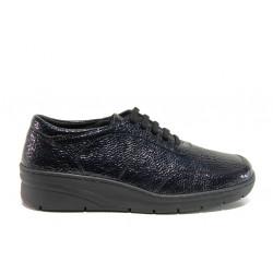 Дамски ортопедични обувки от естествена кожа SOFTMODE 1174 Bianca син   Равни дамски обувки