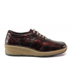 Дамски ортопедични обувки от естествена кожа SOFTMODE 1174 Bianca бордо | Равни дамски обувки