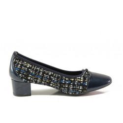Дамски ортопедични обувки от естествена кожа SOFTMODE 5602 Gemma син | Дамски обувки на среден ток