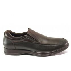 Мъжки ортопедични обувки от естествена кожа SOFTMODE 10 London кафяв | Мъжки ежедневни обувки
