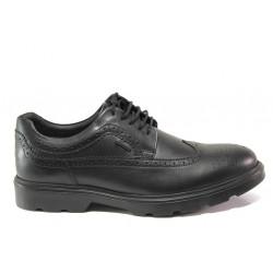 Мъжки ортопедични обувки от естествена кожа SOFTMODE 381 York черен   Мъжки ежедневни обувки