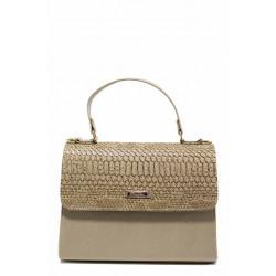 Елегантана дамска чанта ФР 13 бежов лак | Дамска чанта