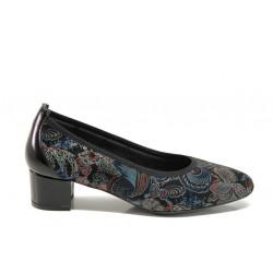 Дамски ортопедични обувки от естествена кожа SOFTMODE 7096 Madison син | Дамски обувки на среден ток