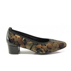 Дамски ортопедични обувки от естествена кожа SOFTMODE 7096 Madison златен | Дамски обувки на среден ток